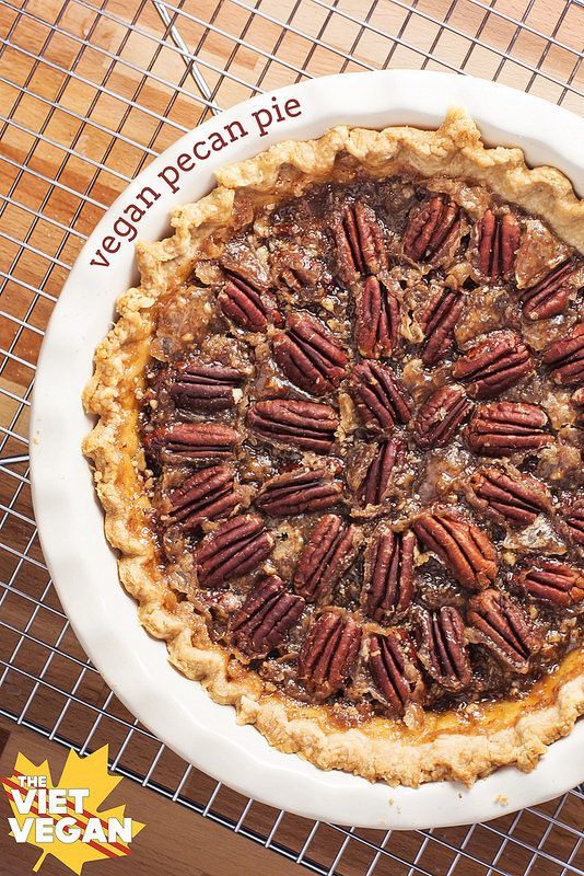 VEGAN PECAN PIE - No tofu, no corn syrup, and perfect, gooey and stable pie filling!