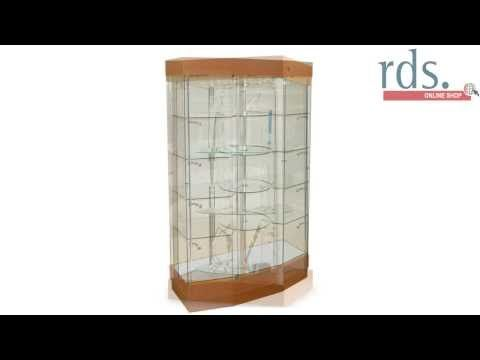 BREV-500 Black Rotating Display Cabinet - Aluminium - Revolving Display Cabinets - Display Cabinets