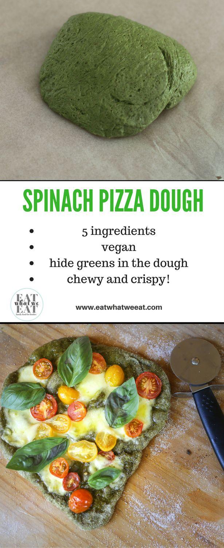 Una corteza de pizza crujiente y masticable con el beneficio adicional de las espinacas ...