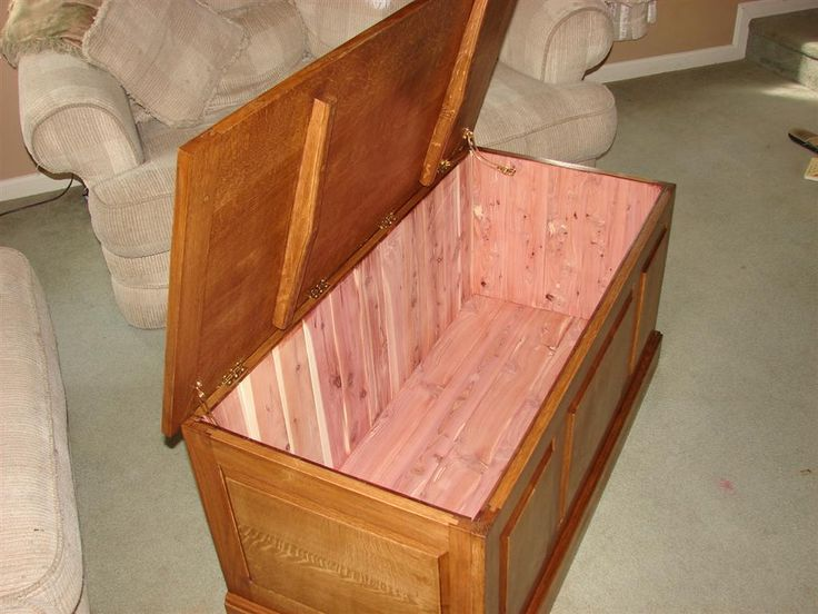 """This week's project comes from Keith in Virginia. Let's check it out: Hey Marc! I wanted to show you a few pictures of my first completed piece of what I guess you'd call """"casework"""". I made this blanket chest as a gift for my brother-in-law and his soon-to-be bride. It's made out of rift sawn …"""
