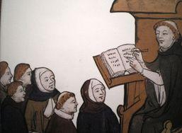 Une représentation de Maître Eckhart enseignant. © D. R.