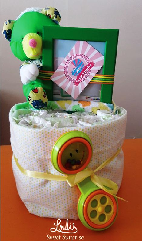 #loulis_sweet_surprise #diaper_cake  #boys #gift_for_baby