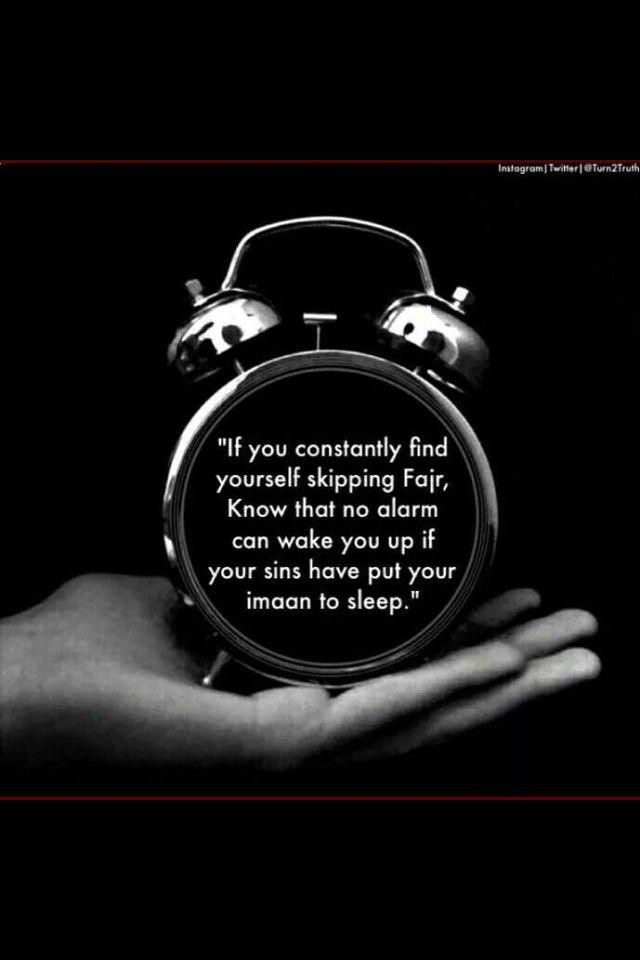 Don't skip fajar prayers