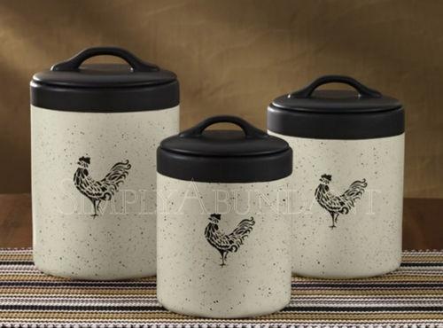 Devon Canister Set Rooster Cock A Doodle Do Kitchen