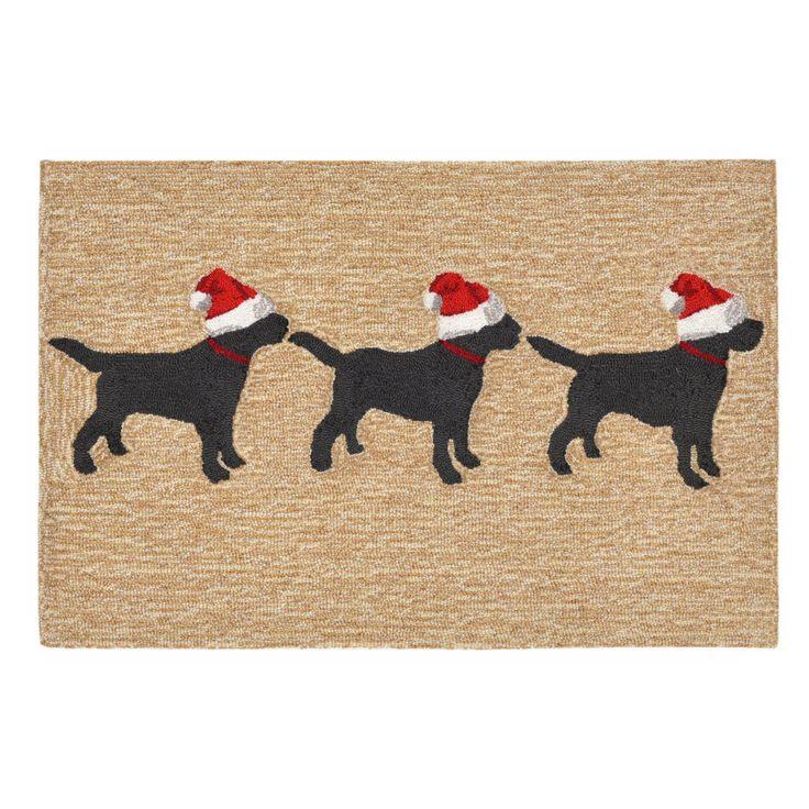 Liora Manne 3 Dogs Christmas Door Mat - FTP12185712