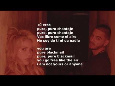 Shakira ft. Maluma - Chantaje - English Lyrics - Lyrics Spanish English ...
