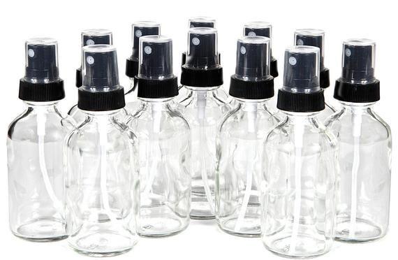 12 New High Quality 1 Oz Clear Glass Bottles With Fine Mist Sprayer S In 2020 Fine Mist Sprayer Small Glass Bottles Fine Mist