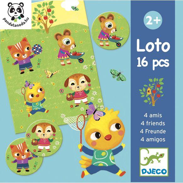 Lottó 4 barát fejlesztő játék -Djeco Loto 4 friends   Pandatanoda.hu Játék webáruház