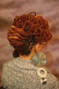 I love this!!! The color, the style! Who says natural hair isn't professional or can't go to any event!!