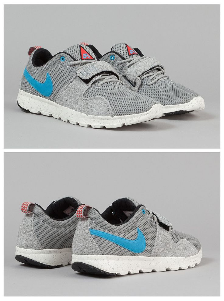 Nike SB Trainerendor Shoes - Base Grey / Vivid Blue / Sail / Black