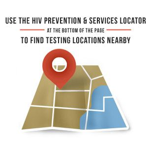 Use the HIV Prevention and Services Locator (at the bottom of the page) to Find Testing Locations Nearby