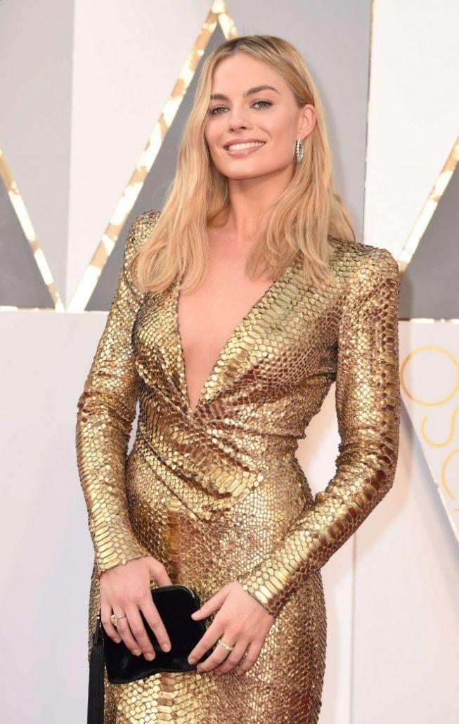 Актриса Марго Роби (Margot Robbie) на церемонии Oscar 2016