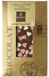 Bovetti 25g. Ciocolata cu lapte si inimioare fondante