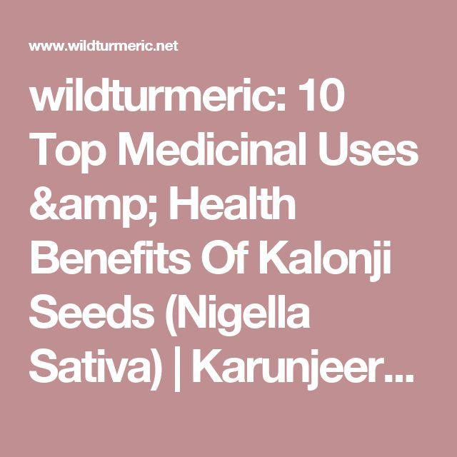 wildturmeric: 10 Top Medicinal Uses & Health Benefits Of Kalonji Seeds (Nigella Sativa)   Karunjeeragam