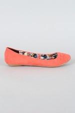 Qupid Pam   b Womens Lace Slip On Flats