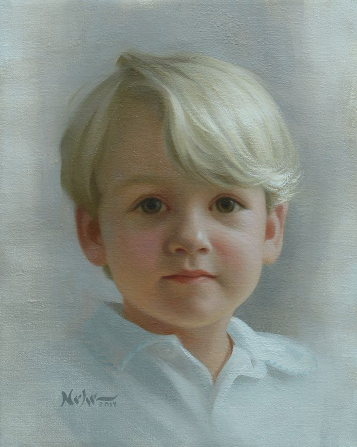 "Painting by Brian Neher, Portrait of Henry, 10"" x 8"", Oil on Linen www.BrianNeher.com"