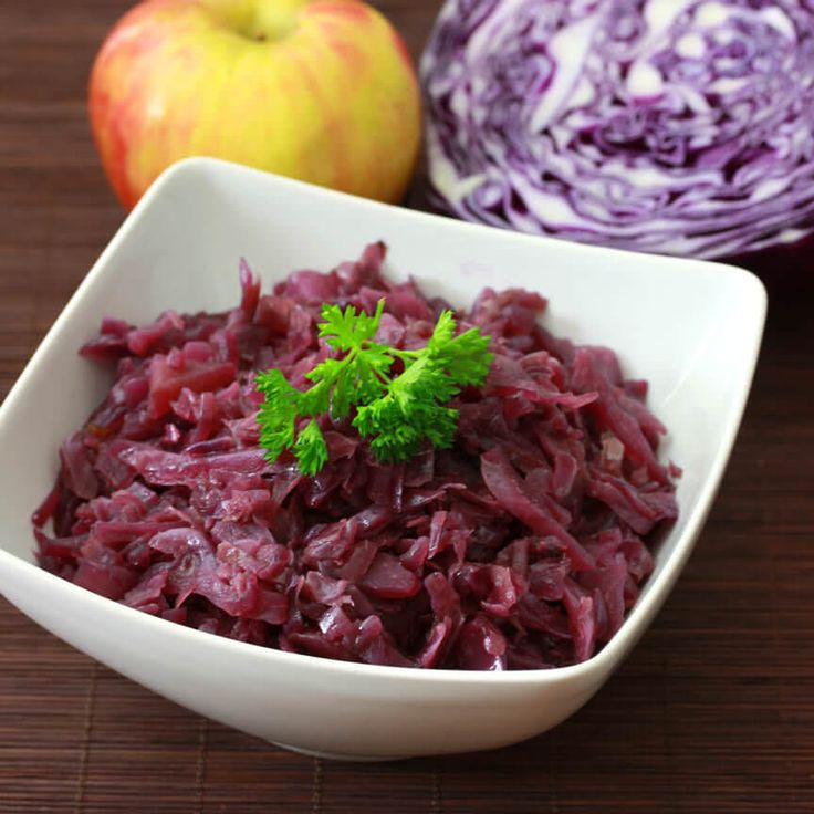 The classic German red cabbage side dish found in virtually every restaurant and home throughout Germany. A thoroughly authentic recipe.