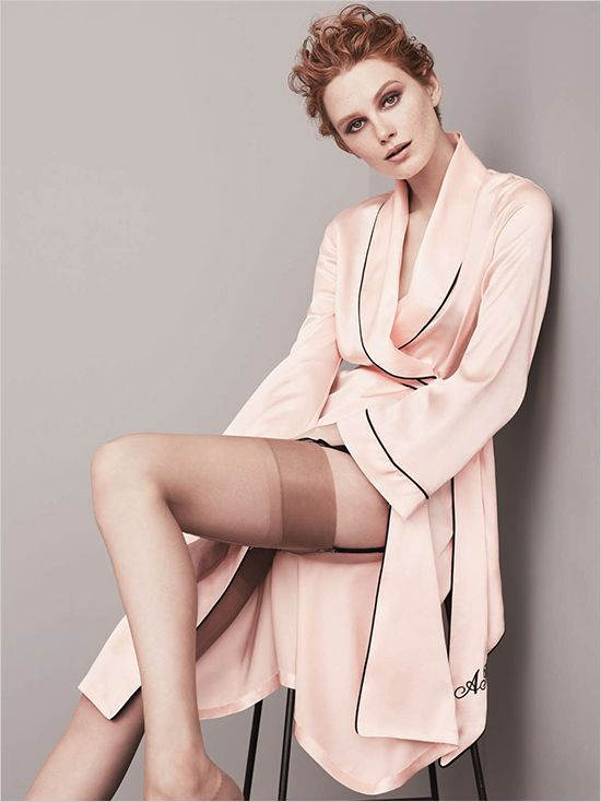 Classic Dressing Gown In Pink From Agent Provocateur. #weddingchicks http://www.weddingchicks.com/2014/07/10/wedding-lingerie/