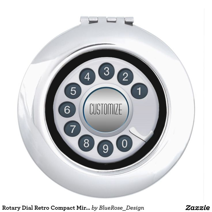 Rotary Dial Retro Compact Mirror
