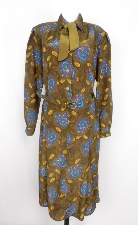Vintage Gold Crazy Pattern Dress