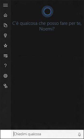 Cos'è Cortana? http://www.sapereweb.it/cose-cortana/        Cortana è la tua nuova ed efficientissima assistente personale. Cortana ti aiuterà a fare ricerche nel PC, gestire il calendario, tenere traccia dei pacchi e trovare file, ma può anche fare chiacchiere e raccontare barzellette. Più usi Cortana, più personalizzata sarà l&#82...