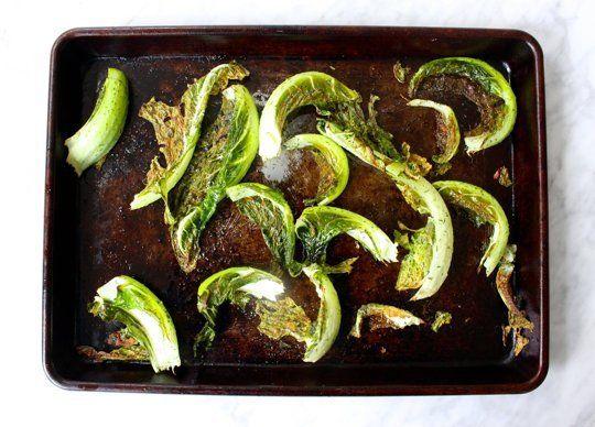 roasted cauliflower leaves