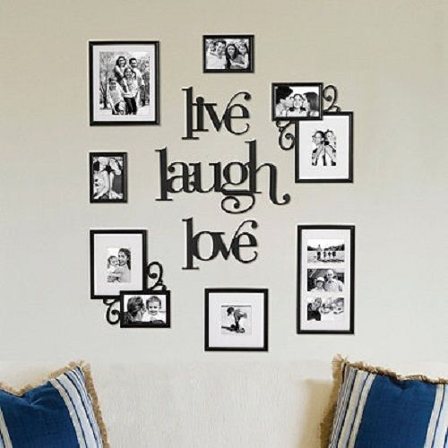 details about large multi picture frame photo collage wedding wall art sign sculpture decor
