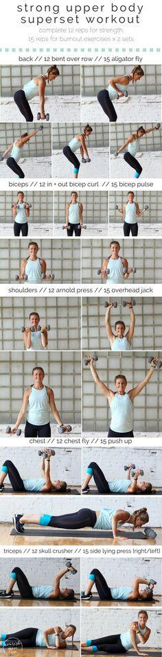 strong upper body superset workout | www.nourishmovelove.com