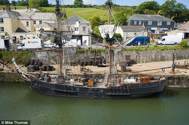 The sailing vessel, the focus of the shoot in Charlestown for #Poldark