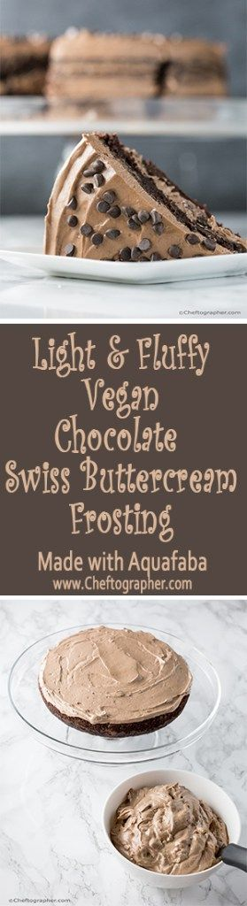 Vegan Chocolate Swiss Buttercream Frosting - Made with Aquafaba