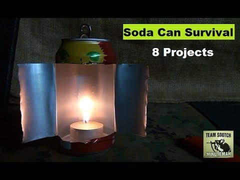 8 Soda Can Survival Projects