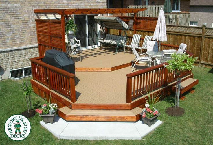 The complete guide about multi level decks with 27 design for Backyard deck designs pictures