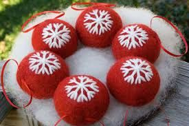 Image result for needle felting christmas decorations