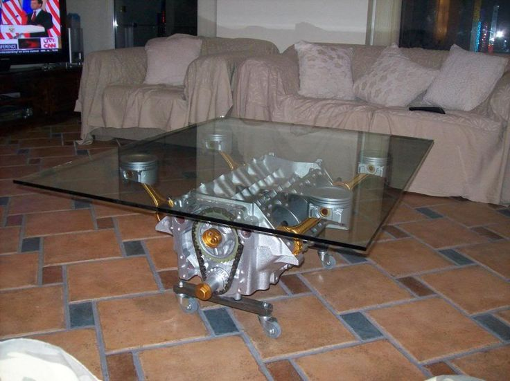 Bronze Accent Engine Table
