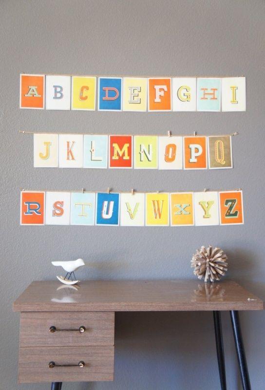 Old School alfabet muurkaarten