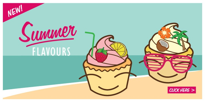 Summer Flavours illustration for Cupcakes by Jess