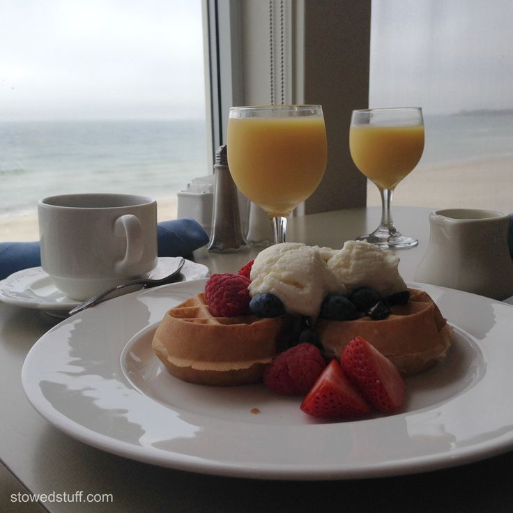 Breakfast at Sea Crest Beach Hotel in Falmouth, MA Cape Cod. The breakfast buffet is truly an amazing spread!