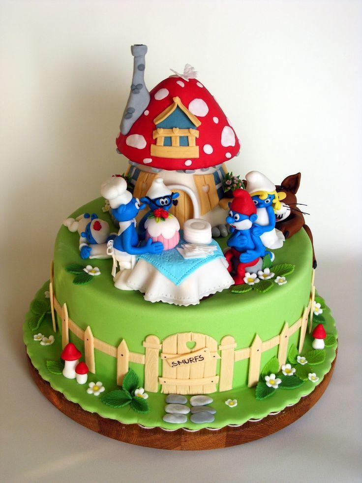 Smurfs Birthday Cakes Pictures