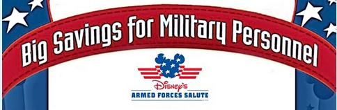 Walt Disney World and Disneyland Military Discounts with Disney's Armed Forces Salute, this is how we afford to go to disney. Thank you Disney