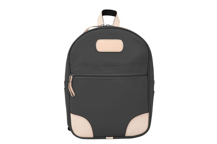 The first Jon Hart item you ever saw was probably this backpack. You wondered where such a special bag came from and then started noticing Jon Hart ID wallets and makeup cases everywhere. If not, then be the trend setter where you live. This bag will carry you through many years of school and beyond. One main compartment with a front zipper pocket and two slim side pockets. Two-way zipper pulls enable you to get in and out quickly and securely. Coated canvas with Natural Leather trimZippered… Black Backpack, Leather Backpack, Backpacking Hammock, Hammock Tent, Camping Needs, Id Wallet, French Blue, Hiking Gear, Makeup Case