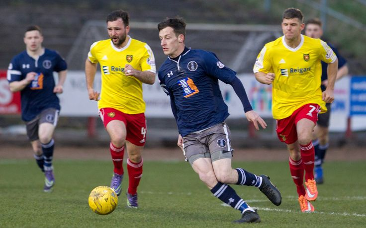 Queen's Park's David Galt in action during the Ladbrokes League One game between Albion Rovers and Queen's Park.