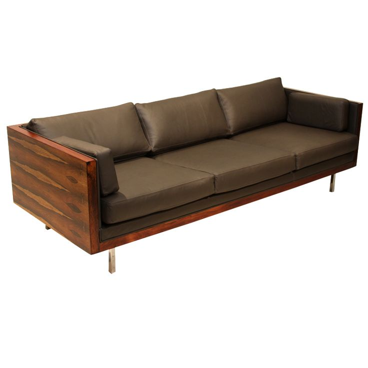 Beautiful Roswood case sofa with sap grain by Milo Baughman - USA 1960's  *The back of the sofa is amazing! (click photo to see more images)
