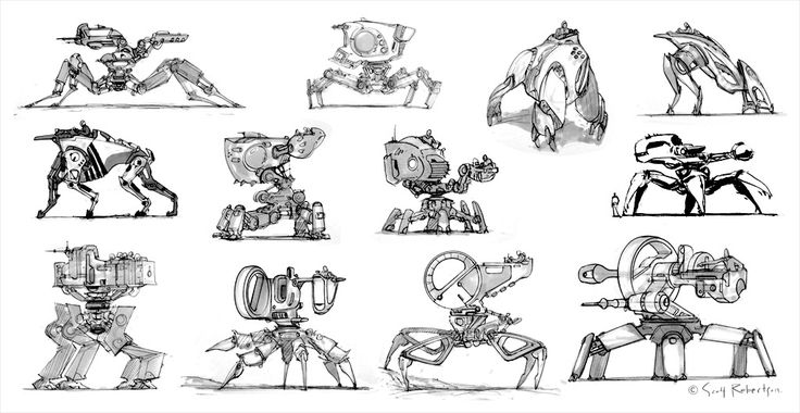 Mechs - DRAWTHROUGH: the personal and professional work of Scott Robertso