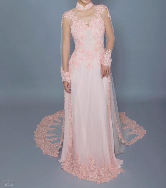 Shop the wide range of BLUSH AO DAI | Custom Made Vietnamese Bridal Dress from Dream Dresses by P.M.N. Most of the Ao Dai can be custom made according to your measurements.