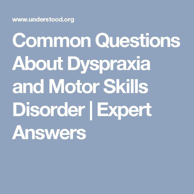 264 best algemene info images on pinterest dyslexia for Motor planning disorder symptoms