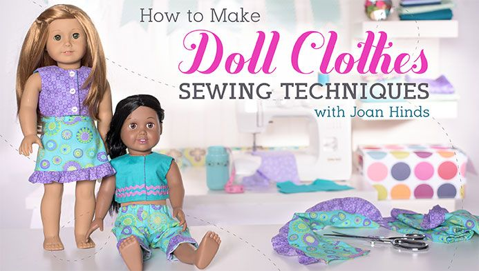 Bring joy to a child's face by making new outfits for her dolls! Learn how to sew a cute top, pants and a skirt with custom details and closures.