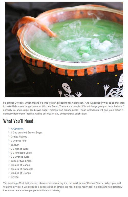 Halloween Jungle Juice Recipe.