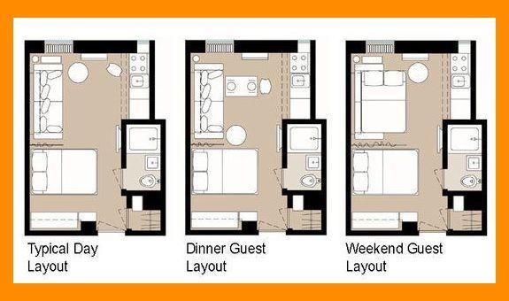 5 Smart Studio Apartment Layouts Small Apartment Interior Tiny
