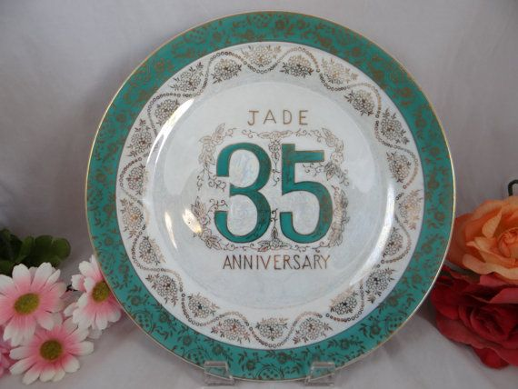 Coral 35th Wedding Anniversary Gifts: Vintage 35th Jade Wedding Anniversary Norcrest Fine China
