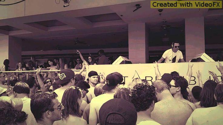 Tiësto live set at Wet Republic pool party(1)